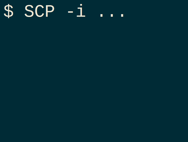 Download files from remote server using terminal and pub key authentication (with SCP)