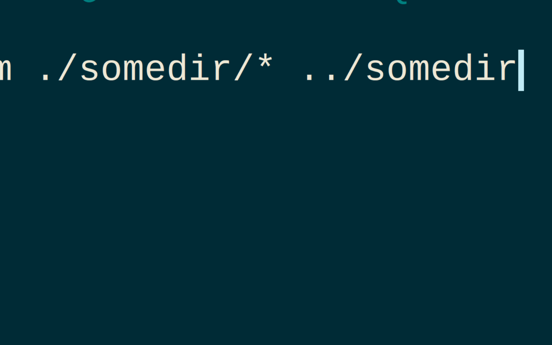Move all files from a directory including hidden files – linux terminal – `mv`